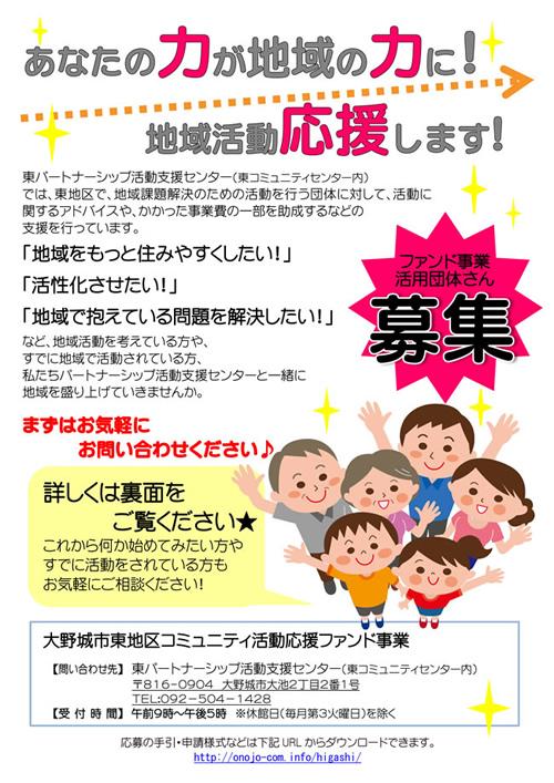 【東コミver】H30年度ファンド事業チラシ(表)